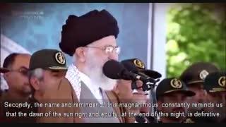 صحبت های دلنشین رهبر انقلاب درمورد امام زمان(عج) با زیرنویس انگلیسی