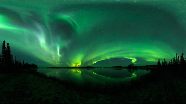 ویدیو 360 حیرت انگیز از شفق قطبی