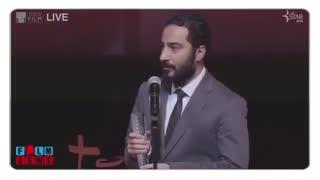 صحبتهای نوید محمدزاده پس از دریافت جایزه جشنواره فیلم توکیو