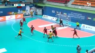 دیدار تیم های هندبال فولاد سپاهان و عمان در قهرمانی باشگاه های آسیا2019