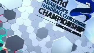 دیدار تیم های هندبال الشارجه و الکویت در قهرمانی باشگاه های آسیا2019