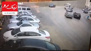 تصادف همزمان با خودرو و کامیون