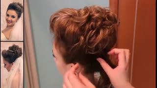 آموزش مدل مو دخترانه جمع برای عروس-مومیس مشاور و مرجع تخصصی مو