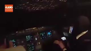 پرواز معاون رئیس جمهور با هواپیمایی با خلبان زن