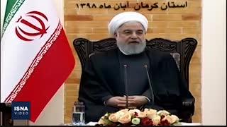 نشست خبری روحانی در پایان سفر به کرمان