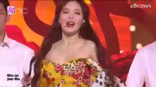 اجرای اهنگ جدید هیونا hyuna به نام FLOWER SHOWER در SBS Inkigayo