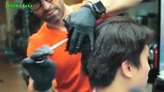 آموزش مدل مو مردانه برای موهای بلند موج دار- مومیس مشاور و مرجع تخصصی مو