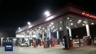 تصاویر پمپبنزینی که ادعا میشد به آتش کشیده شده است