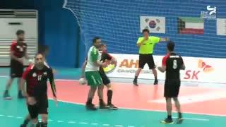 دیدار تیم های هندبال زاگرس و العربی در قهرمانی باشگاه های آسیا2019