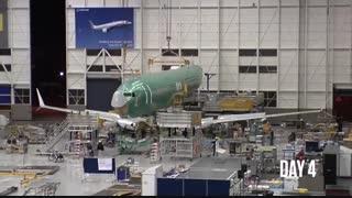ساخت بوئینگ 737 در 9 روز