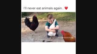 من دیگه هیچوقت حیوونارو نمیخورم^-^