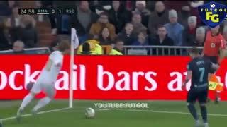 خلاصه و گل های بازی رئال مادرید 3  - رئال سوسیداد 1 (لالیگا اسپانیا)