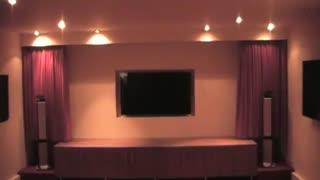 پرده برقی سینمای خانگی