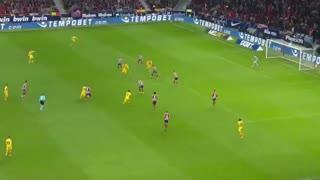 خلاصه بازی اتلتیکو مادرید 0 - بارسلونا 1 (لالیگا اسپانیا)