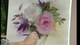 گل رز . رنگ روغن. رئال. بسیار زیبا و آموزشی.  Farbi Flora Fernsehen