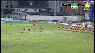 خلاصه بازی پرگل نساجی 2 - سپاهان 2 (لیگ برتر ایران)