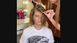 آموزش فر کردن مو با بابلیس مخروطی