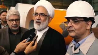 حضور حجت الاسلام والمسلمین محمدجعفر منتظری، دادستان کل کشور در جمع کارکنان خطوط تولید شرکت فولاد مبارکه