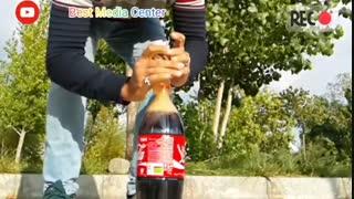 صحنه آهسته واکنش عجیب کوکا کولا و منتوس | Experiment: Coca Cola vs Mentos Slow Motion