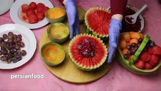 آموزش تزیین میوه شب یلدا جدید