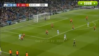 خلاصه بازی منچسترسیتی 1 - منچستریونایتد 2 (لیگ برتر انگلیس)