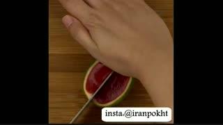 برای شب یلدا ژله به شکل هندوانه درست کنید