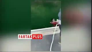 نجات عقاب گرفتار در چنگ اختاپوس در اقیانوس آرام