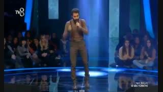 اجرای فوق العاده خواننده ایرانی سینا صفار زاده ترکی مسابقه استعداد یابی ترکیه 2019 Sina safar zade  o ses
