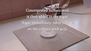دی هیدراته شدن شکر توسط اسید سولفوریک