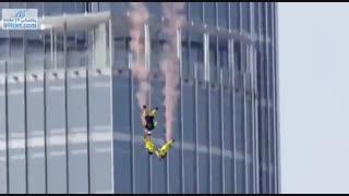 سقوط آزاد از روی بلندترین آسمان خراش جهان در دبی